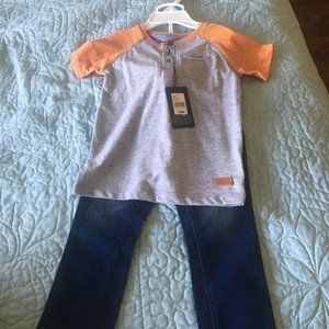 7 for all Mankind 24 months tee and jeans NWT